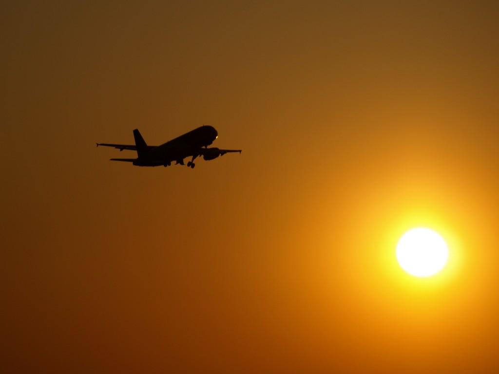 avion sunset atardecer sol