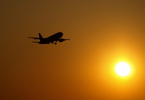 avion sunset atardecer sol