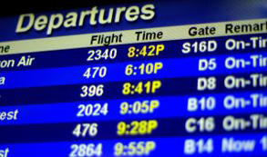 Más personas están montando en avión