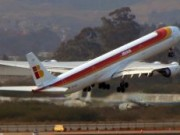 Iberia A340-600 take off GRU