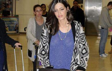 Sara Carbonero, a la moda incluso en el aeropuerto
