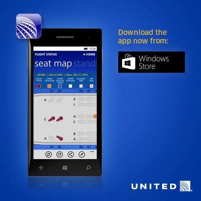United Airlines estrena nueva aplicación móvil para Windows Phone 8