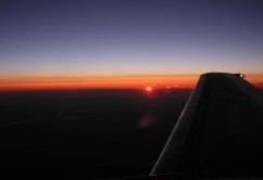 ala avion de noche