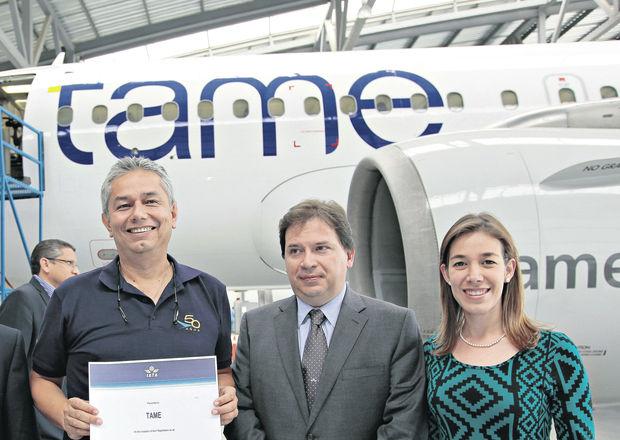 ECUADOR : Tame con nuevo avión y un sello de calidad