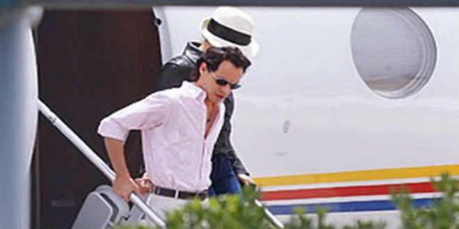 Marc Anthony cierra espacio aéreo para celebrar su boda