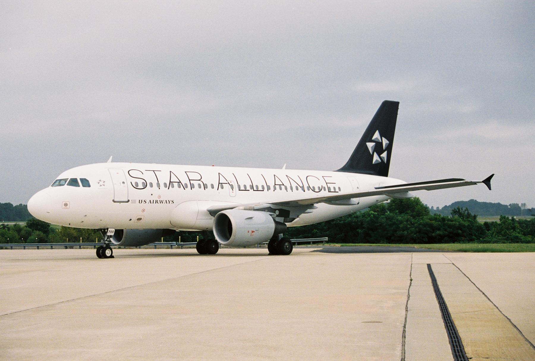 US_Airways_Star_Alliance_plane