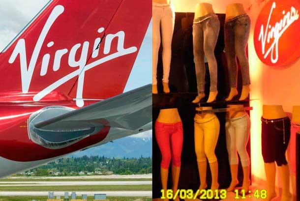 De cómo una marca de jeans peruanos imita al logo de aerolínea Virgin America