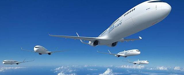 Un avión que vuela sin tripulantes y sin combustible