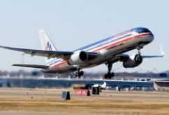 American B757 takeoff