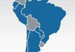 Mapa Sudamerica LATAM Airlines