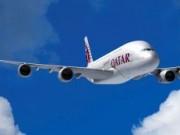 Qatar Airways A380 front
