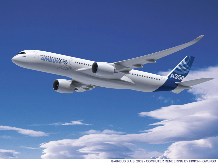El A350 de Airbus supera su prueba inicial