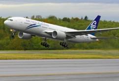 Air New Zealand B777-200ER takeof