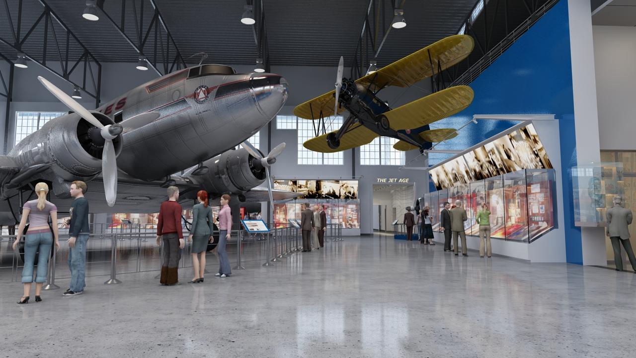 Delta inicia reformas en el Museo de Vuelo de Delta, que abrirá en 2014
