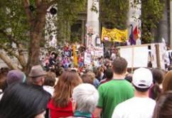 protesta huelga