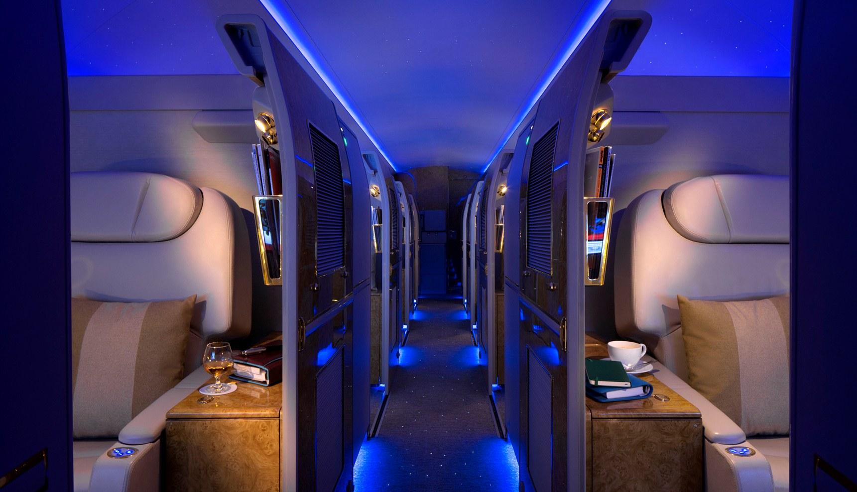 Emirates lanza su servicio de vuelos de lujo con un Airbus 319 para viajes privados