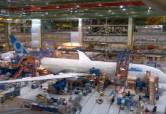 First 787-9 in Factory at Final Body Join
