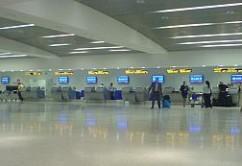 Check in en Aeropuerto de lejos