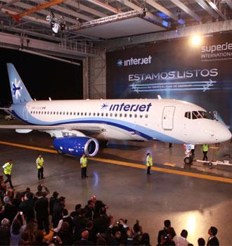 Interjet presenta su nuevo avión