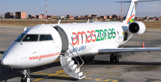Aerolínea boliviana hizo su primer vuelo en ruta La Paz-Arequipa