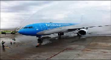 Aerolíneas Argentinas incorporo el primer Airbus A-330 a su flota de largo alcance