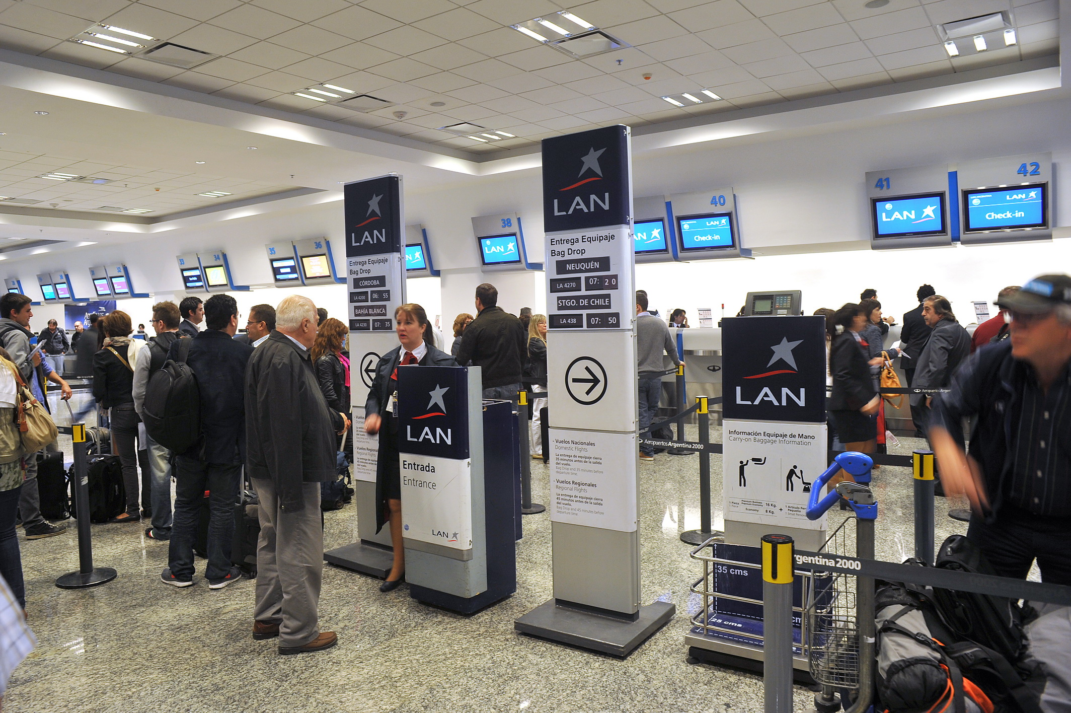 Aerolíneas, LAN Y GOL estrenan el nuevo sector de Check In de Aeroparque
