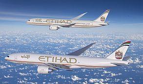 La aerolínea emiratí Etihad anuncia un pedido de 56 aviones Boeing