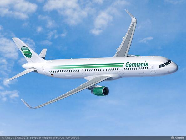 Germania operará solo aviones Airbus