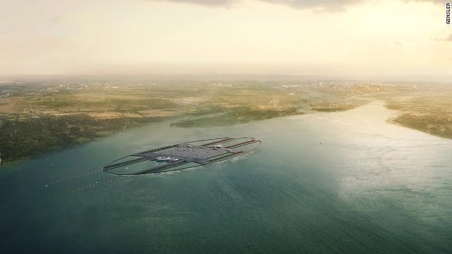 Proponen un aeropuerto futurista en medio del río Támesis