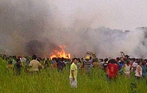 Confirman 8 muertos y 10 heridos en accidente de aviación en Riberalta