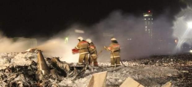 Rusia lamenta accidente aéreo en Kazán y ordena investigación