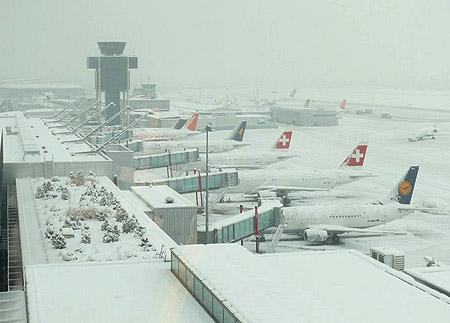 19 aeropuertos españoles están preparados para la nieve