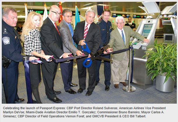 """Miami International Airport has installed 36 new """"Passport Express kiosks"""" in the North Terminal in addition to the current Global Entry program."""