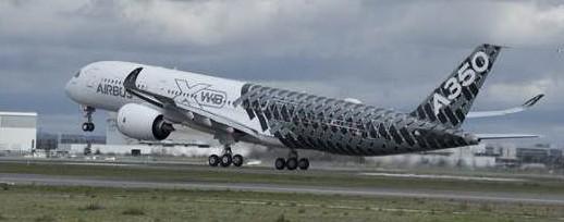 Quatro companhias aéreas recebem o A350 XWB em 2015
