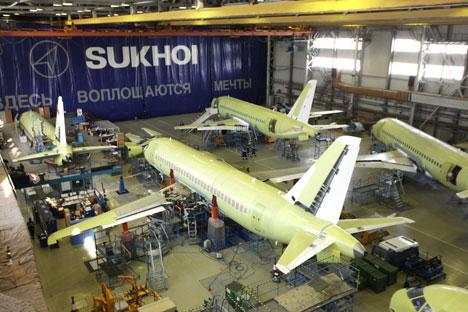 Aumenta la producción de aviones Superjet