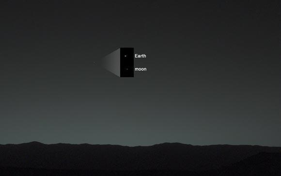 Publican fotografía de la Tierra tomada desde Marte