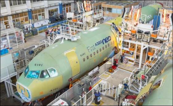 Airbus comienza el ensamblaje final de su superventas A320neo