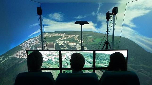 Piezas de avión se reciclan para simulador de vuelo