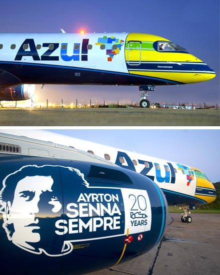 Aerolínea brasileña rindió homenaje a Ayrton Senna