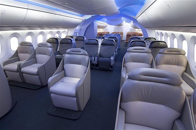Boeing Unveils 787 Dreamliner Interior