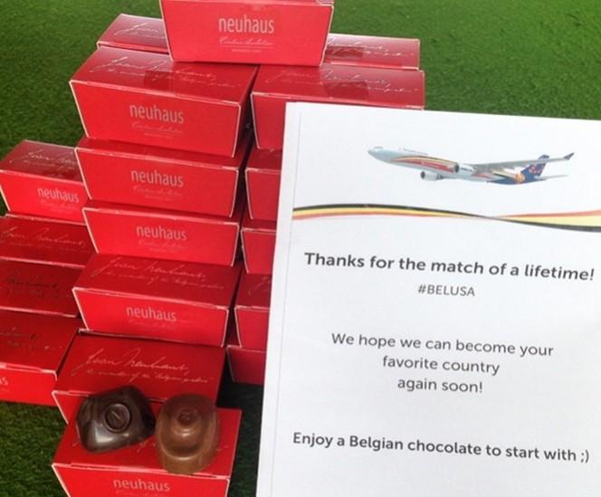 Tras pase a cuartos, aerolínea belga regala chocolates a pasajeros de EU