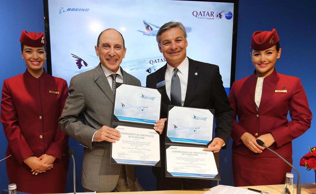 Boeing y Qatar Airways cierran un pedido de 50 aviones 777X
