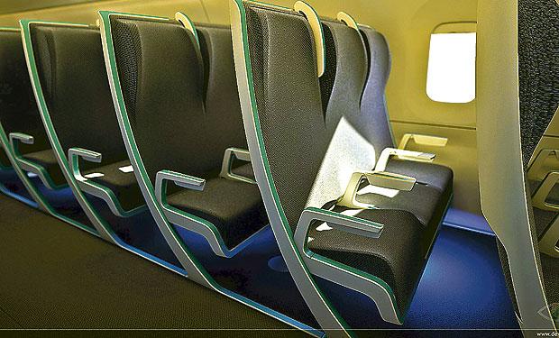Los asientos de aviones adelgazan