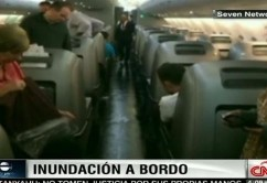 avion inundado