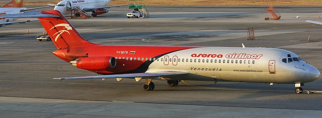 Aserca suspende vuelos a Valencia, Porlamar y Barcelona
