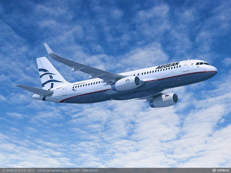 Aegean Airlines añade otros dos aviones a su anterior pedido de A320ceo