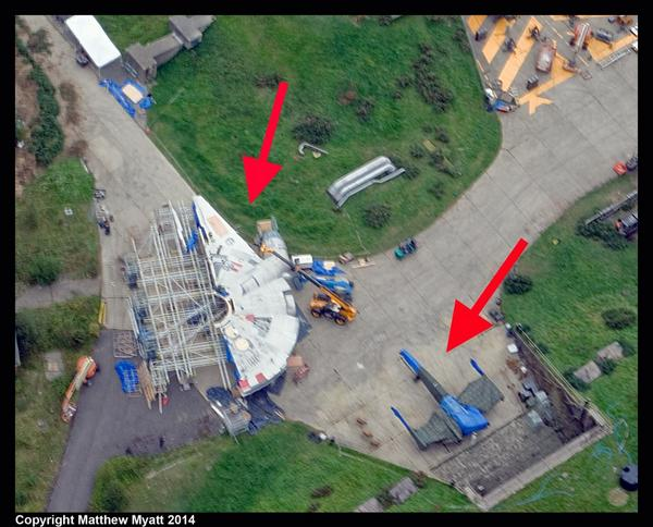 Star Wars Episodio VII: piloto fotografía por casualidad al Halcón Milenario