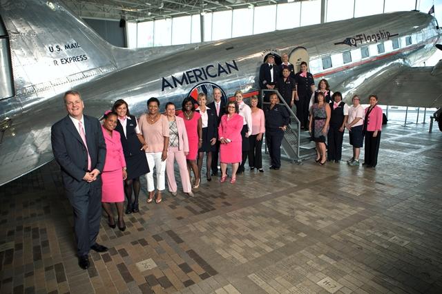 American Airlines se viste de rosa en octubre en apoyo de la lucha contra el Cáncer de seno