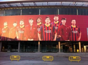 Nueva imagen de Qatar Airlines en el Camp Nou
