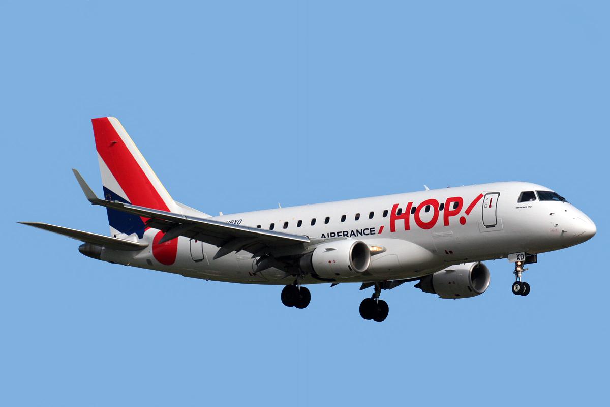 La aerolínea HOP! ampliará su flota con siete Embraer 190 más